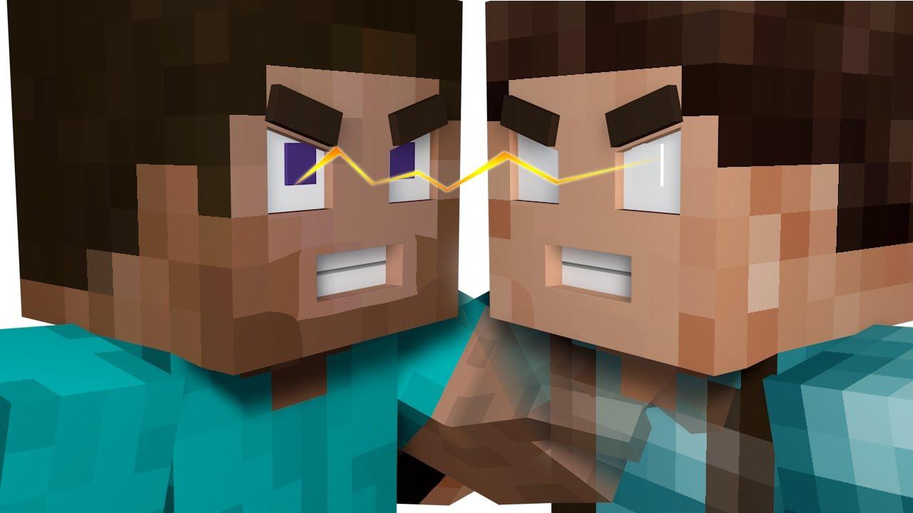 Steve VS Herobrine - Minecraft Animation - YouTube