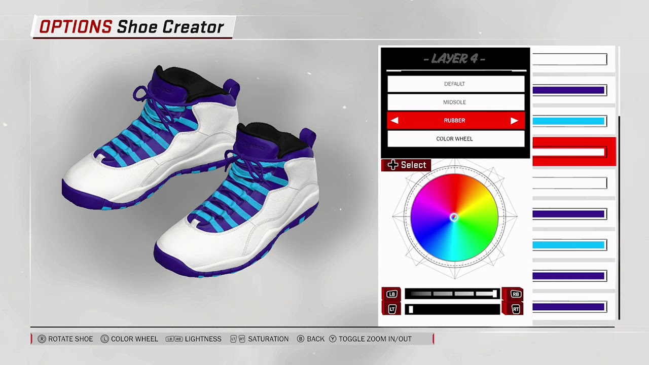 NBA 2K18 Shoe Creator - Air Jordan 10