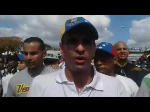 Capriles desde la marcha