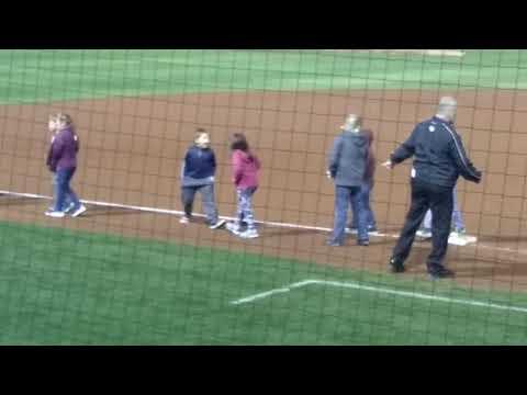 Dalton And Cousin Savannah Run The Bases At The Winston-Salem Dash Game At The BB&t Ballpark For B&G