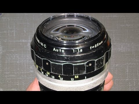 Working with aperture blades in NON-Ai NIKKOR H.C Auto 1:1.8 f=85mm