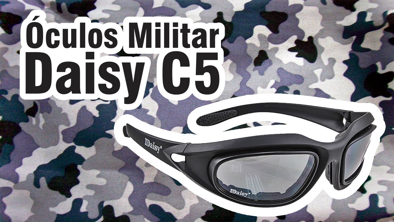 1c6b4baba2e48 Óculos Militar Daisy C5  Review  03  - YouTube