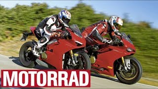 Superbikes 2018: Ducati Panigale V4 vs. Ducati 1299 Panigale S (Eng Subs)
