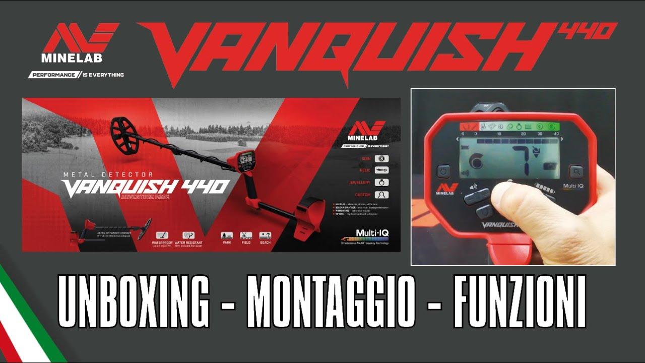 Minelab VANQUISH 440 unboxing, montaggio e funzioni [ITA]