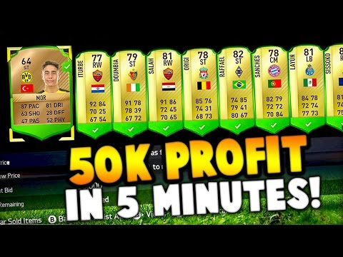 FIFA 17 - 50,000 COINS PROFIT IN 5 MINUTES!
