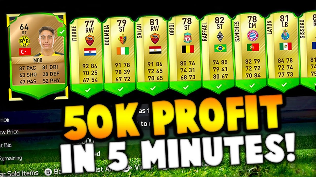 Fifa 17 50000 Coins Profit In 5 Minutes Youtube