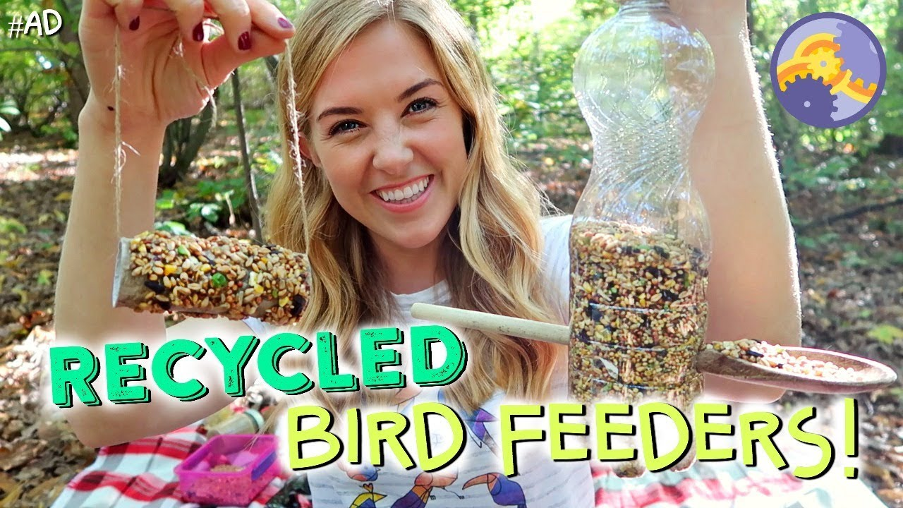 How to make 3 recycled bird feeders! | Maddie Moate