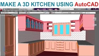 Modeling A Kitchen Using Autocad - Part1