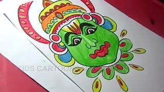How to Draw Happy Onam Festival Drawing for kids Step By Step for Kids