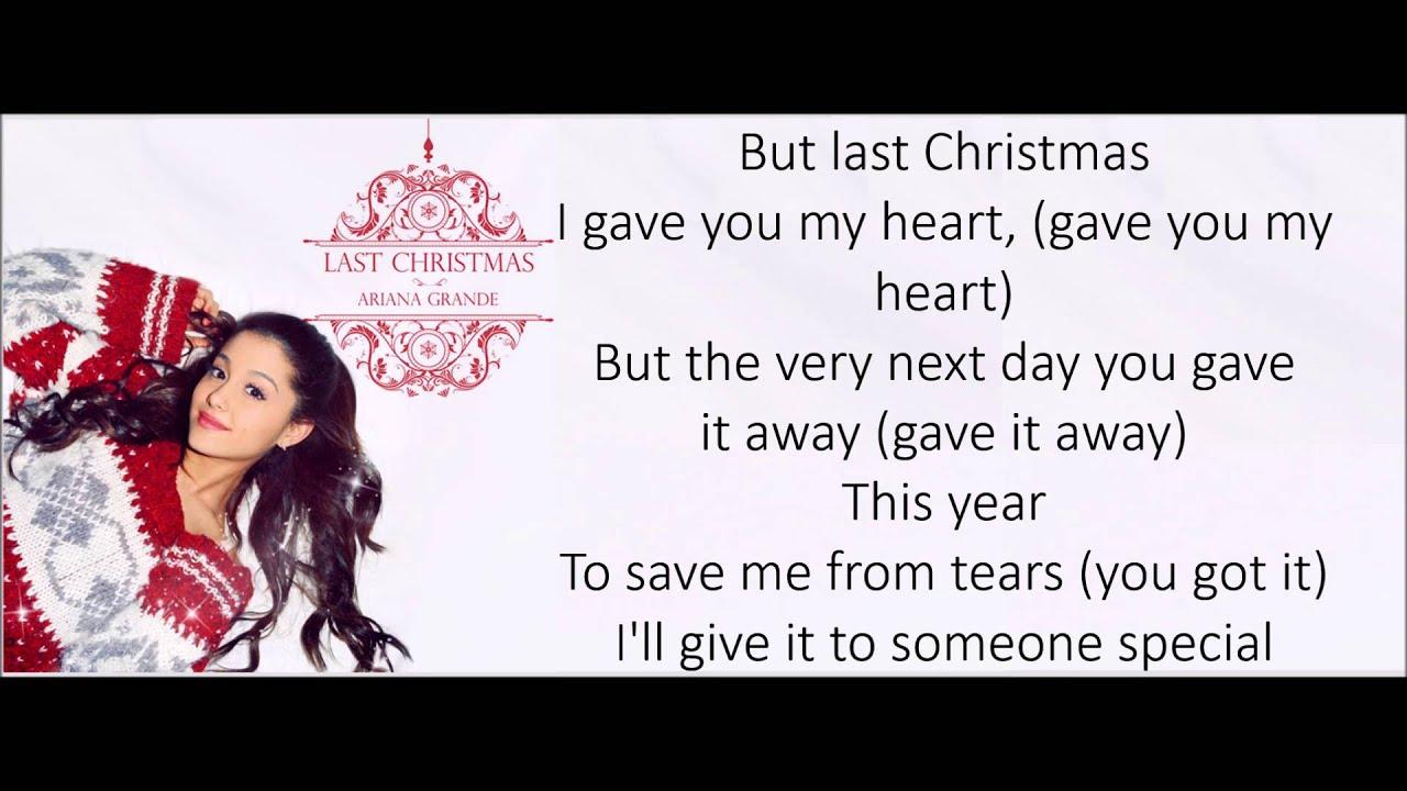 Last Christmas lyrics - Ariana Grande - YouTube