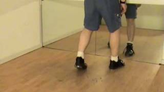 Pullback Dig Toe Tap Dance Move Shown by Rod Howell at unitedtaps.com