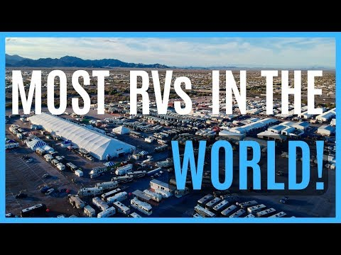 2019 QUARTZSITE AZ BIG RV SHOW (RV LIVING FULL TIME)