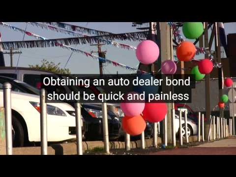 Auto Dealer Bond, Motor Vehicle Dealer Surety Bond