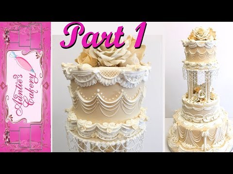 PART 1 Lambeth Wedding Cake Tutorial- Top Tier