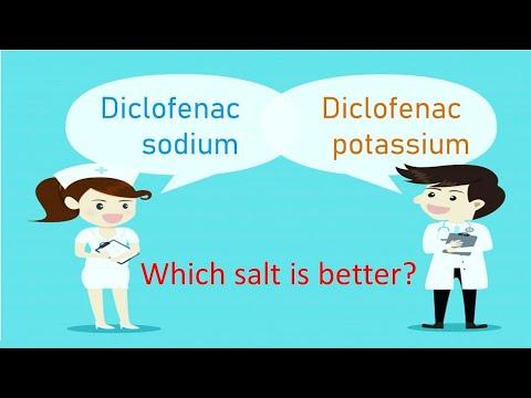 Which Salt Is Better Diclofenac Sodium Or Diclofenac Potassium Youtube