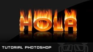 Tutorial Photoshop // Efecto Texto De Fuego
