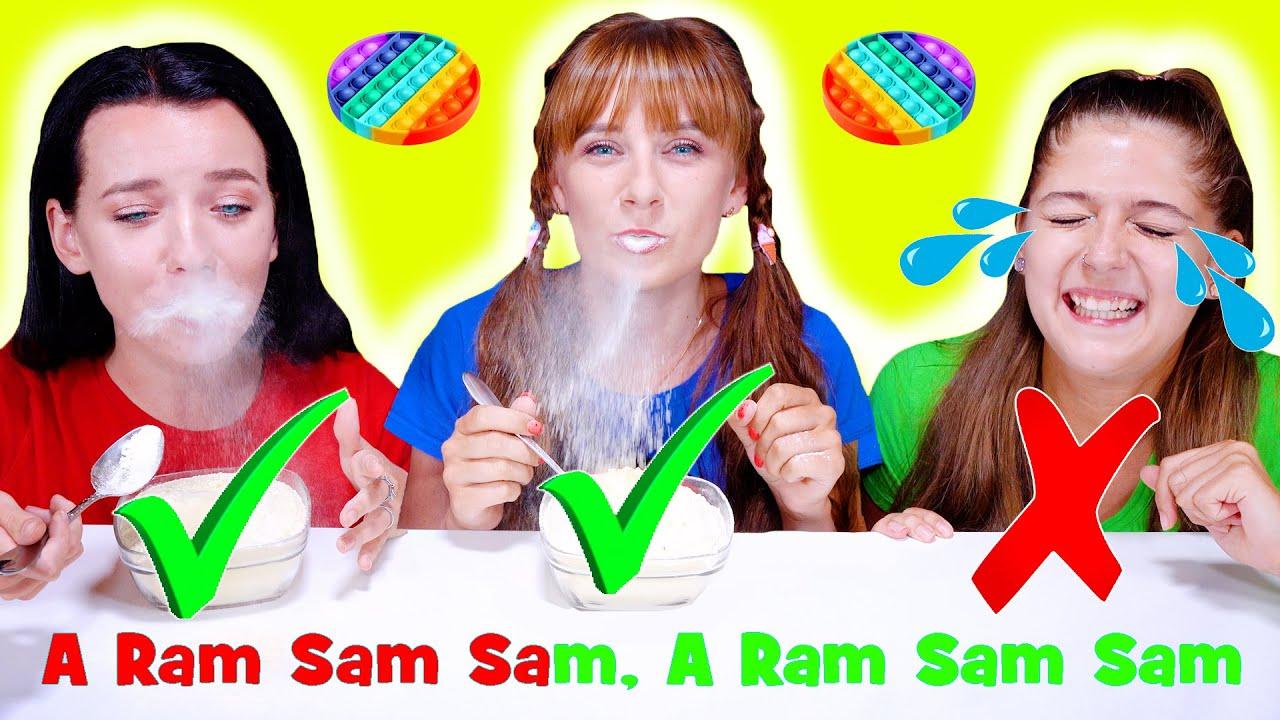 ASMR Most Popular Food Challenge (Pop IT Race, Ram-Sam-Sam Song, Wineglass Race) Eating Sound