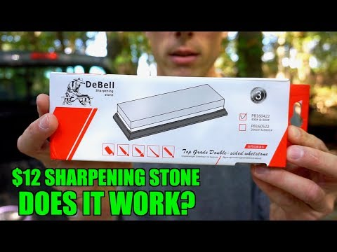 TESTING A $12 KNIFE SHARPENING STONE FROM AMAZON. Knife sharpening doesn't have to be expensive.