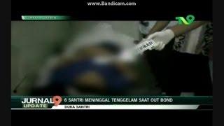 TV9 NUsantara - 6 Santri Tewas Tenggelam Saat Outbond