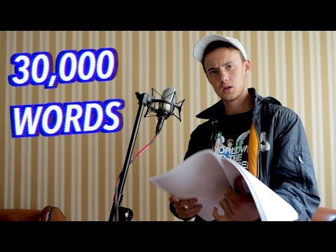 30,000 Word Rap Song! *WORLD RECORD*