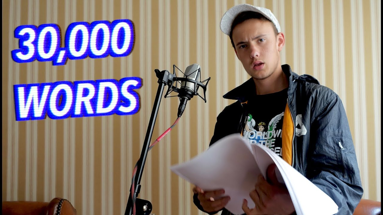30,000 Word Rap Song! *WORLD RECORD* - YouTube