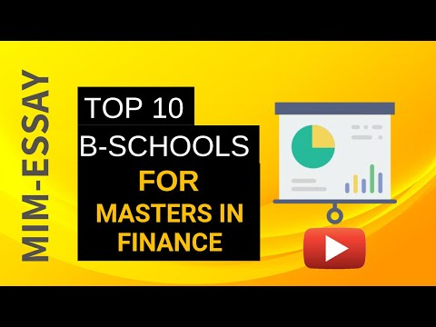 Top 10 Business Schools for Masters in Finance