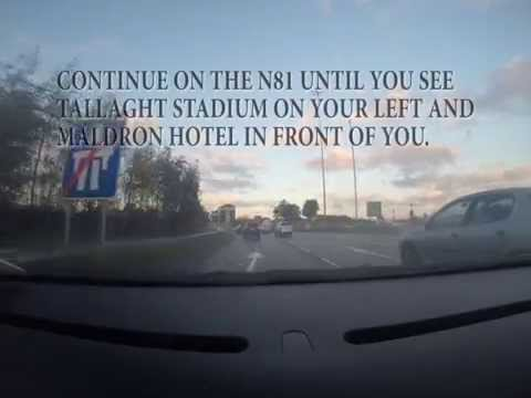 Directions to the Maldron Hotel Tallaght from the M50