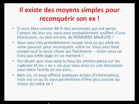 mais comment le recuperer mon ex youtube. Black Bedroom Furniture Sets. Home Design Ideas