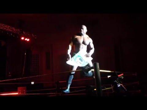 WWE NXT Live Event Chicago 1/16/16 Apollo Crews vs Baron Corbin
