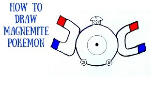 How to draw magnemite pokemon