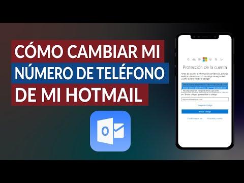 Cómo Cambiar o Actualizar mi Número de Teléfono de mi Cuenta Hotmail