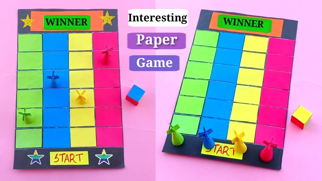 How To Make Board Game Diy Paper Game Making Easy Game With Pape Homemade Board Game Ideas Youtube
