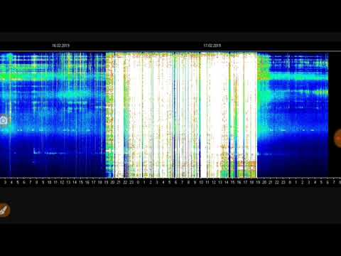 Schumann resonance turned on and off.