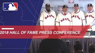Hall of Fame Class of 2018 discuss being elected into Cooperstown