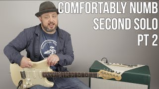 Comfortably Numb Second Solo Lesson Part 2 - Pink Floyd, David Gilmour