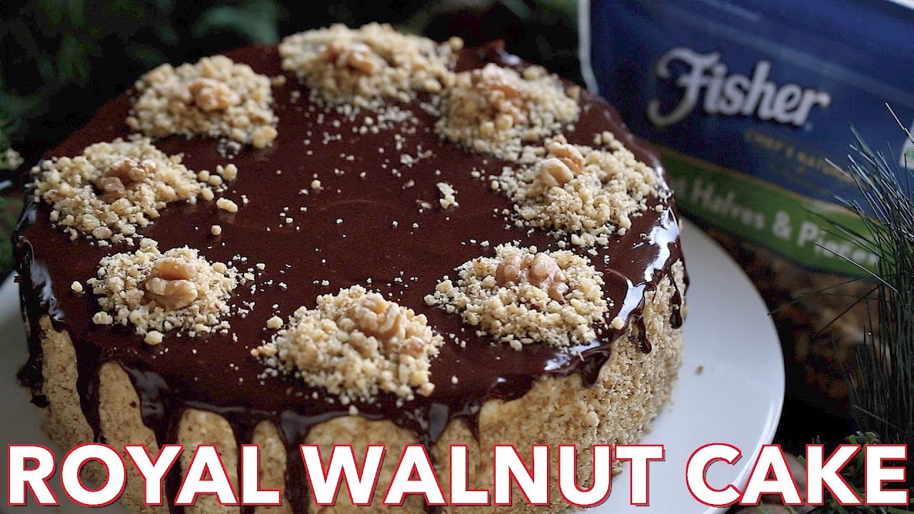 Dessert Royal Walnut Cake Recipe Natasha 39 S Kitchen