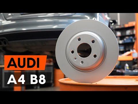 Как заменить задние тормозные диски наAUDI A4 B8 Седан[ВИДЕОУРОК AUTODOC]