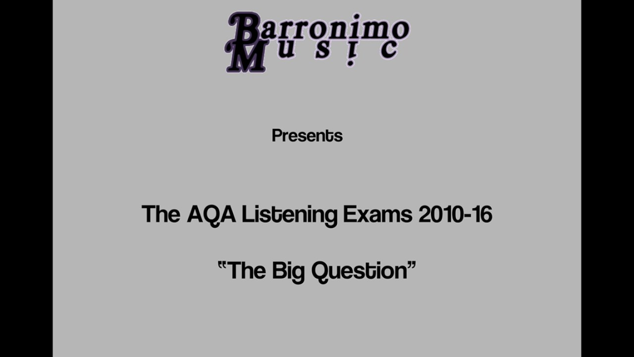 AQA GCSE Music Listening Exam -