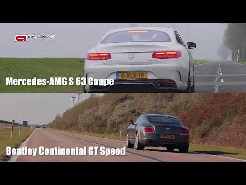 Mercedes-AMG S63 Coupe vs Bentley Continental GT Speed