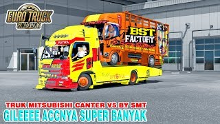 UPDATE CANTER Review Mod Truk Canter Versi 5 By SMT Full Acc ETS2 MOD INDONESIA