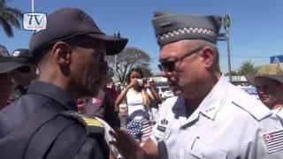 Confronto entre PM e Guarda Municipal no Desfile de Americana thumbnail