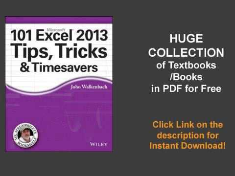 101 Excel 2013 Tips Tricks And Timesavers Pdf
