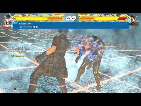 TEKKEN 7 - Noctis Command List - All Attacks + Combos & Rage Art FINAL FANTASY XV Character DLC