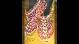 Patterns Of Handmade Slippers And Socks