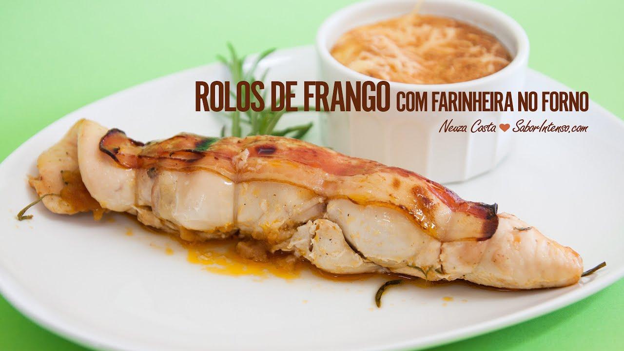 Receita de Rolos de Frango com Farinheira no Forno