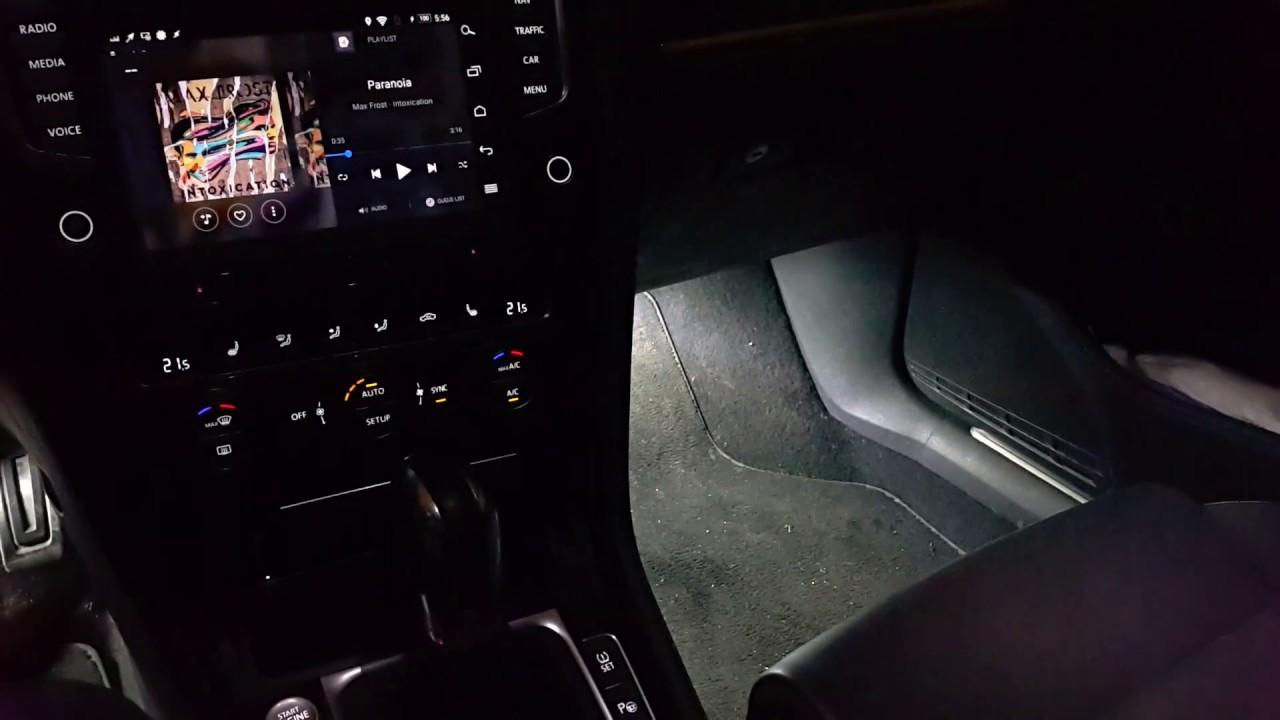 Custom Interior Lighting In Golf R Mk7