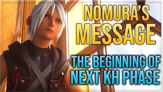 Nomura's Message - Beginning of The Next Kingdom Hearts Phase, 3rd KH Line and Union X