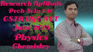 137. UGC-CSIR NET JUNE2015 Physical Science, Chemical Science Part-A General Aptitude PSA