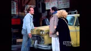 TAXI - Latka has a cold; it's a funny scene.