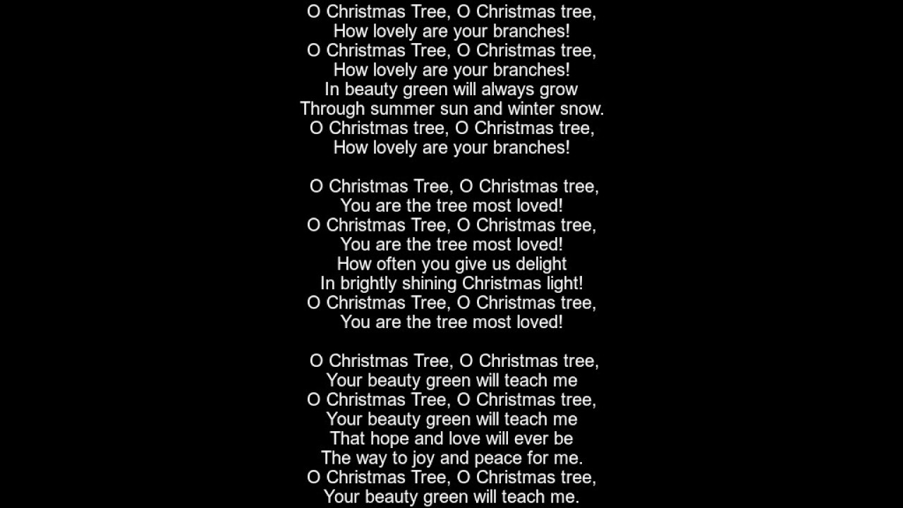 O Christmas Tree Lyrics - Version 4 - YouTube